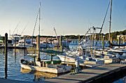 Sail Fish Prints - Boats at the Wharf  Print by Susan Leggett