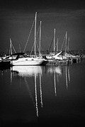 Inland Photos - Boats In Ballyronan Marina Lough Neagh County Derry Londonderry Northern Ireland  by Joe Fox