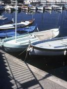 Boats In Harbor Posters - Boats In Harbor Poster by Axiom Photographic