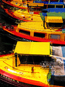 Leopold Brix - Boats in red and yellow