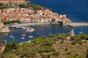 Languedoc Prints - Boats In The Harbor Of Collioure Print by Michael Melford