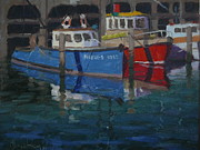 Terry Perham Art - Boats Napier 1982 by Terry Perham
