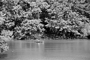 Streetscenes Photos - BOATS of CENTRAL PARK in BLACK AND WHITE by Rob Hans