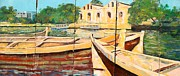 Iraq Conflict Framed Prints - Boats on the Canal Framed Print by Unknown