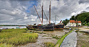 Repairs Metal Prints - Boats on the hard at Pin Mill Metal Print by Gary Eason
