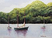 Tn Painting Prints - Boats on the Lake Print by Todd A Blanchard