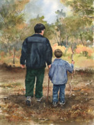 Father Paintings - Bob and Alex by Sam Sidders