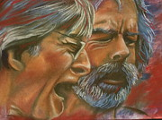 Grateful Dead Pastels - Bob and Phil by Mark Anthony