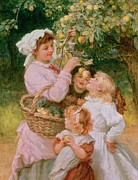 Picking Apples Posters - Bob Apple Poster by Frederick Morgan