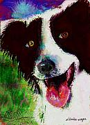 Collie Digital Art Metal Prints - Bob Metal Print by Arline Wagner