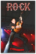 Guitare Posters - Bob Champoux Rock 1 Poster by Danielle  Parent