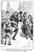 19th Century America Metal Prints - Bob Cratchit & Tiny Tim Metal Print by Granger