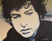 Bob Drawings - Bob Dylan - Its Alright Ma by Eric Dee