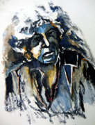 Singer Mixed Media Originals - Bob Dylan and Blues by Mindy Newman