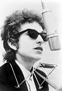 Music Framed Prints - Bob Dylan B. 1941 With Harmonica Framed Print by Everett