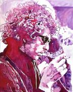 Celebrity Painting Prints - Bob Dylan Print by David Lloyd Glover