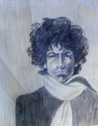 Dylan The Poet Drawings - Bob Dylan in the Rock Years by Judith Redman