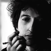 Smoker Digital Art Prints - Bob Dylan Print by Michael Tiscareno