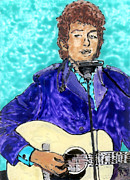 Bob Dylan Art - Bob Dylan number 3 by Phil Strang
