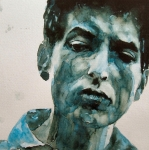 Folk Painting Framed Prints - Bob Dylan Framed Print by Paul Lovering