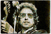 Bob Dylan Digital Art Originals - Bob Dylan by Riccardo Zullian