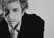 Jazz Drawings Prints - Bob Dylan Print by Steve Hunter