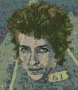 Pop Icon Drawings Posters - Bob Dylans Highway 61 Poster by Suzanne Gee