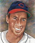 Cleveland Indians Drawings - Bob Feller by Rob Payne