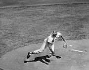 League Metal Prints - Bob Gibson (1935- ) Metal Print by Granger
