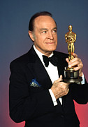 Academy Awards Framed Prints - Bob Hope Eyeing The Academy Award Framed Print by Everett