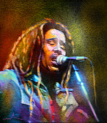 Musicians Mixed Media - Bob Marley 02 by Miki De Goodaboom