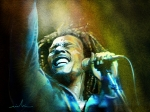 Reggae Music Art Prints - Bob Marley 06 Print by Miki De Goodaboom