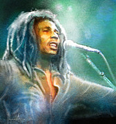Jamaica Mixed Media Posters - Bob Marley 09 Poster by Miki De Goodaboom