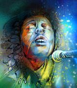 Jamaica Mixed Media Posters - Bob Marley 10 Poster by Miki De Goodaboom