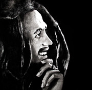 Bdcurran Drawings - Bob Marley 2 by Brian Curran