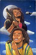 Musicians Pastels - Bob Marley A reflection of  his music by Sandra Pryer