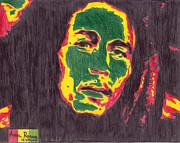 Bob Marley Abstract Prints - Bob Marley Print by Angel Roque