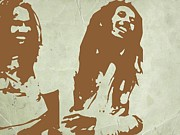 Bob Marley Brown 2 Print by Irina  March