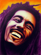 Original Portraits Painting Originals - Bob Marley by Bruce Carter