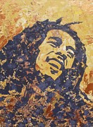 Rastafarian Paintings - Bob Marley by David Shannon