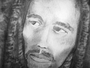 Bob Drawings - BOB MARLEY Fine Art Illustration by Roly O by Roly D Orihuela