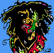 Kingston Digital Art Prints - Bob Marley full color Print by Kamoni Khem