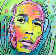 Reggae Music Art Prints - Bob Marley I Print by Dean Russo