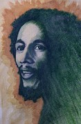 Illustrative Mixed Media Prints - Bob Marley Print by James Flynn