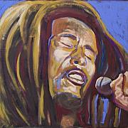 Microphone Painting Framed Prints - Bob Marley Framed Print by Buffalo Bonker