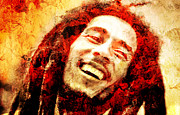 Reggae Music Art Prints - Bob Marley Print by Juan Jose Espinoza