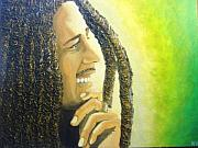 Keenya Woods Mixed Media Originals - Bob Marley by Keenya  Woods