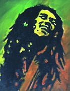 Rastafarian Paintings - Bob Marley by Kristen Diefenbach