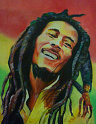 Pop Stars Painting Originals - Bob Marley by Lesley Paul