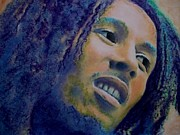 Roots Pastels Framed Prints - Bob Marley Like It Like This Framed Print by Mandy Thomas